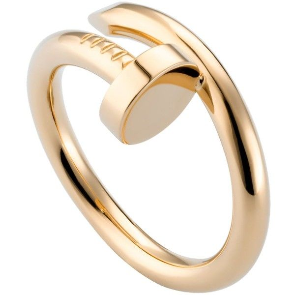 CARTIER Juste un Clou 18ct yellow-gold ring ($2,350) ❤ liked on Polyvore featuring jewelry, rings, accessories, cartier jewelry, wrap rings, gold ring, gold jewellery and yellow gold rings
