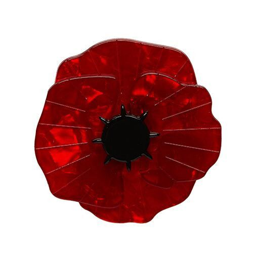 Poppy Field (Erstwilder Dark Red Poppy Resin Brooch), now available. Hand assembled and hand painted, presented in a branded box.