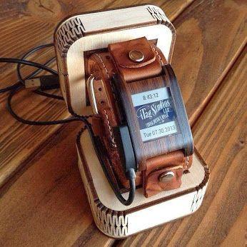 Sophistication like no other! Ebony Wood for the Pebble Watch // via Slickwraps, Inc. - Google+