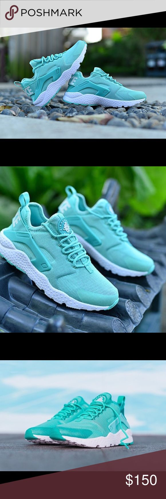 "Nike Air Huarache Ultra Very nice ""Tiffany Blue"" color. These run about 1/2 size small according to reviews made on Nike. Very lightweight and super comfortable! Brand new never worn with box without lid. These color way is not sold in stores or online. Nike Shoes Athletic Shoes"