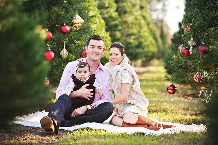 Fun ideas for Christmas pics! Ornaments in tree.