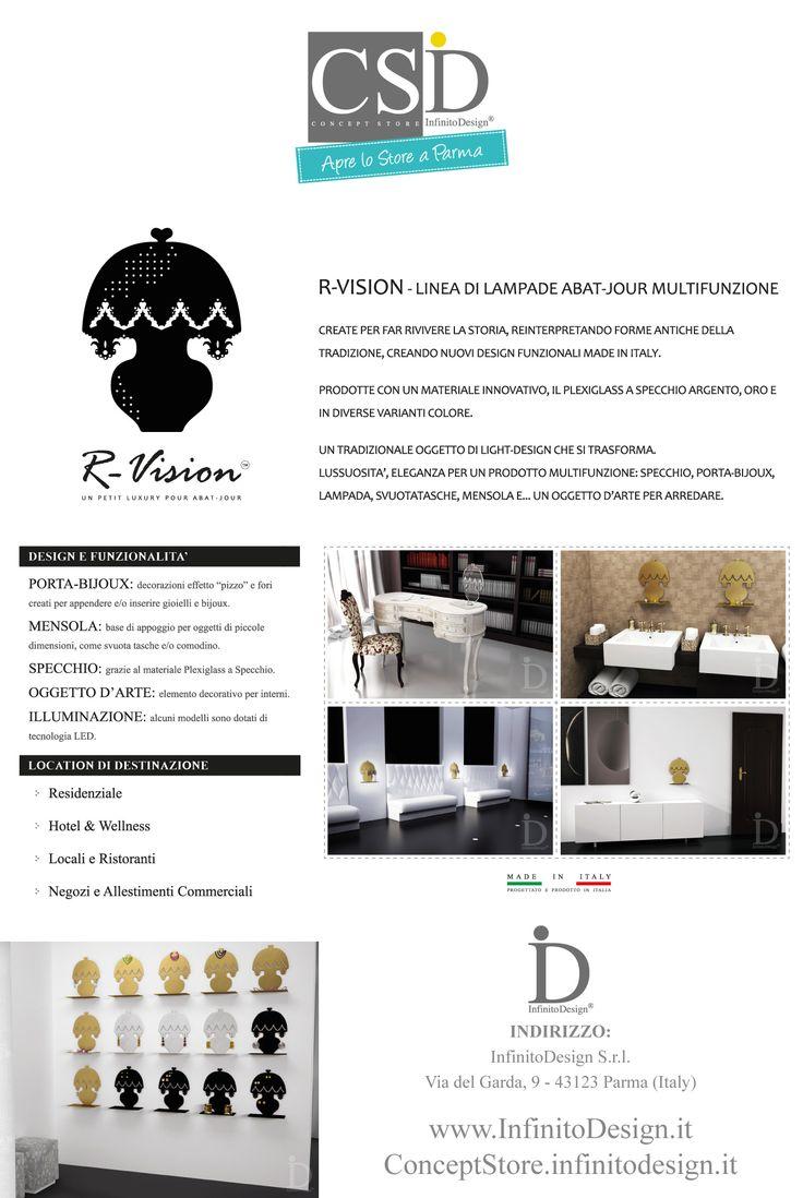 #parma #csid R-Vision Lampada Abat-Jour in #plexiglass, con funzionalità porta-bijoux, mensola e specchio. La puoi vedere dal vivo al ConceptStore InfinitoDesign oppure sullo shop online http://conceptstore.infinitodesign.it/collezioni/r-vision-linea-di-lampade-multifunzionali-abat-jour
