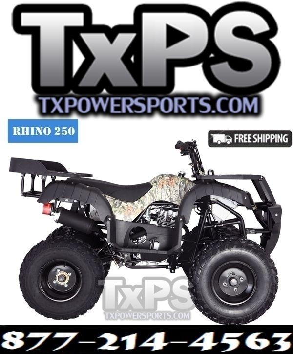 Taotao RHINO250 200CC, Manual Transmission ATV. Free Shipping. Sale Price: $1,229.00