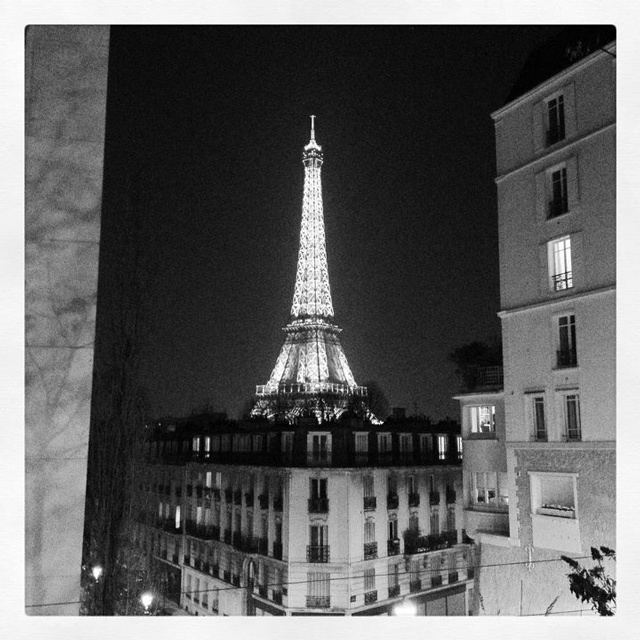 The Eiffel Tower, Paris.  I took this picture using my iPhone 4S and Instagram.