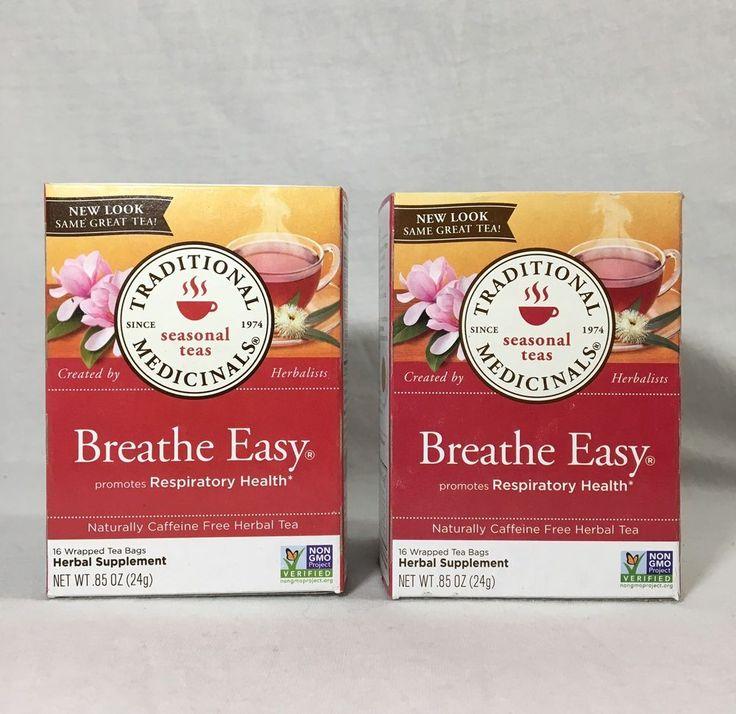 NEW Traditional Medicinals Breathe Easy 2 Boxes, 16 Tea Bags Per Box  | eBay