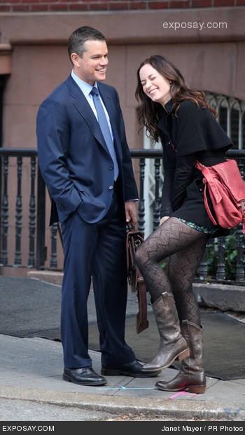 Matt Damon and Emily Blunt had such great chemistry in the Adjustment Bureau.