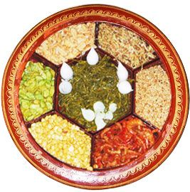 La Phet Thote (Fermented Tea Salad) with different ingredients