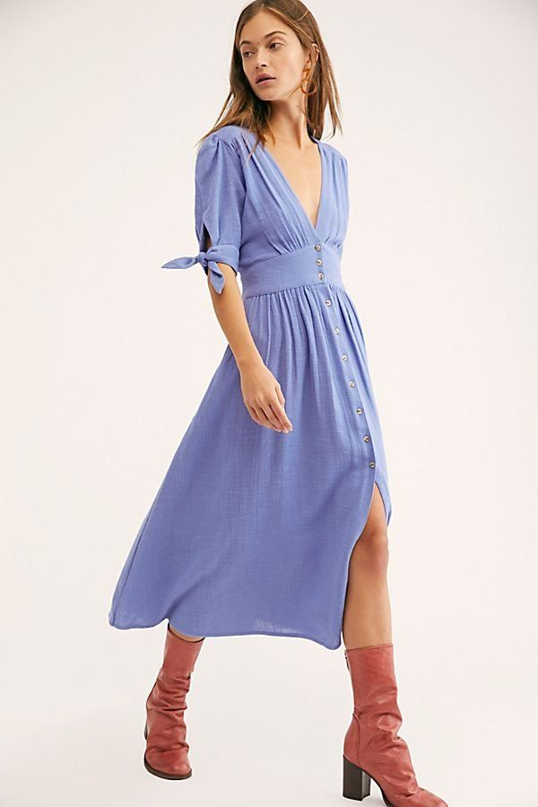 c01bf5634a Love Of My Life Midi Dress - Periwinkle Midi Dress - Free People Midi  Dresses - Blue Midi Dresses - Free People Dresses
