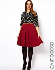 ASOS CURVE Midi Skirt With Belt