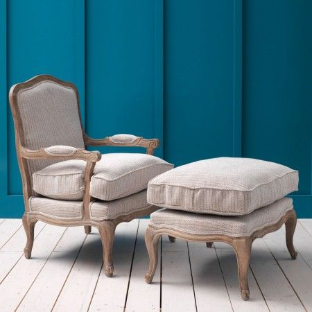 Antoinette+Armchair+and+Footstool+in+Herringbone+-+Dream+Bedroom+-+Shop+By+Theme+-+New+In