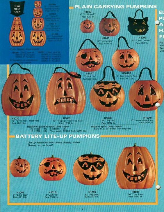 1971 general foam halloween decorations catalog