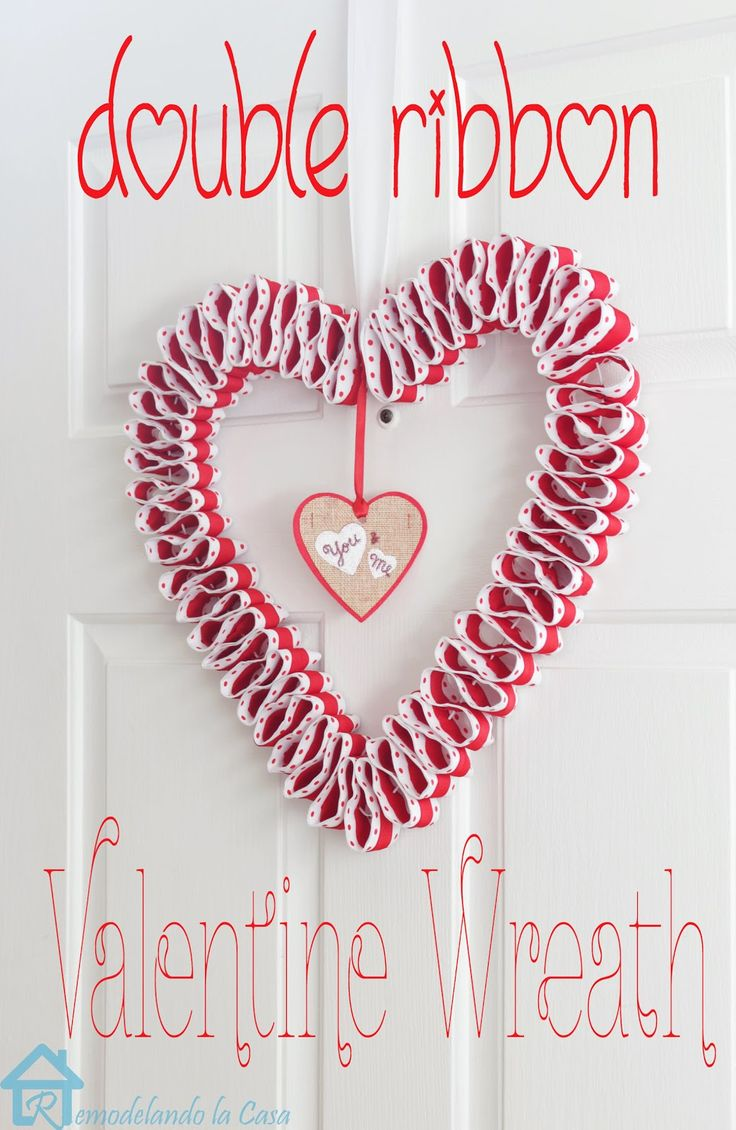 Double Ribbon Valentines Wreath