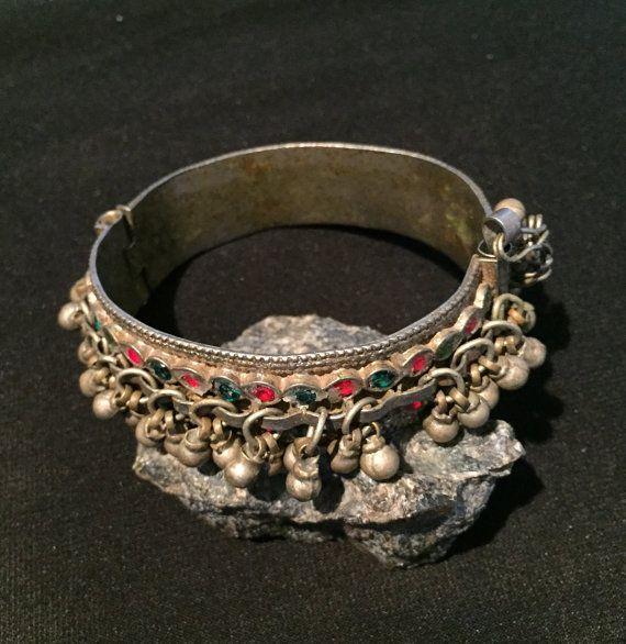 Afghani Bangle-kuchi Jewellery-Kuchi Bracelet by JewelsofNomads