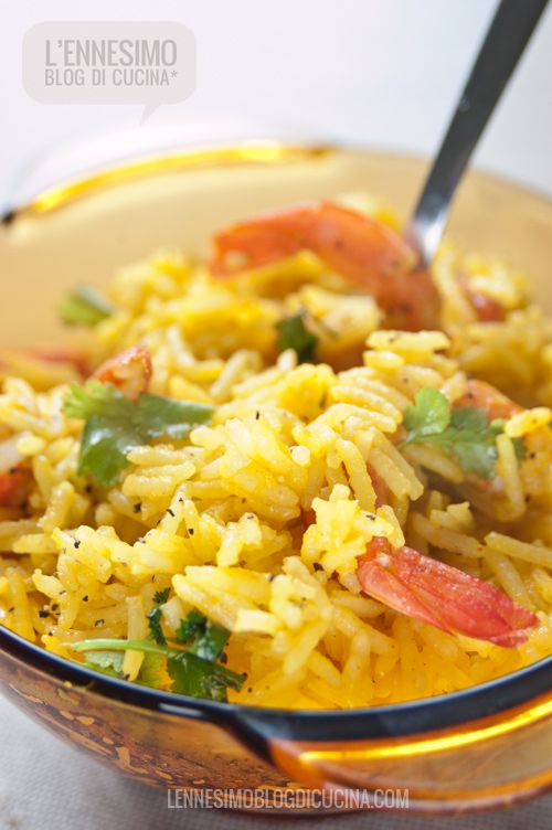 riso basmati ai gamberi con zenzero e zafferano (ginger & saffron shrimps basmati rice) © lennesimoblog