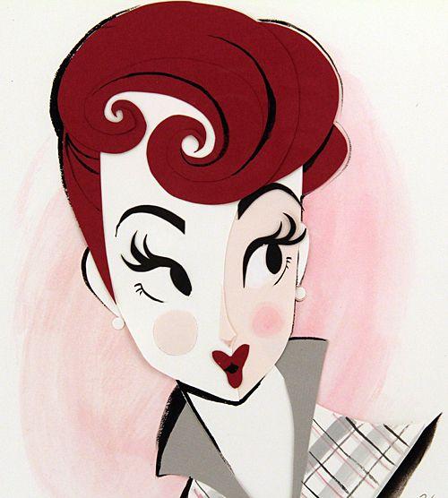 Legendary Beauties by Brittney Lee (Cut paper & gouache)