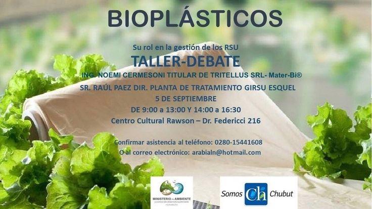 TriTellus en charla-debate en Pcia. de Chubut presentando su disertación sobre los #bioplasticos y su rol en la #gestión de los #residuos sólidos urbanos RSU.