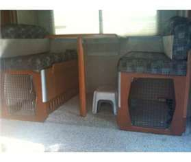 This would be a great idea for the dogs in the RV and would keep her out from under the couch with the water system