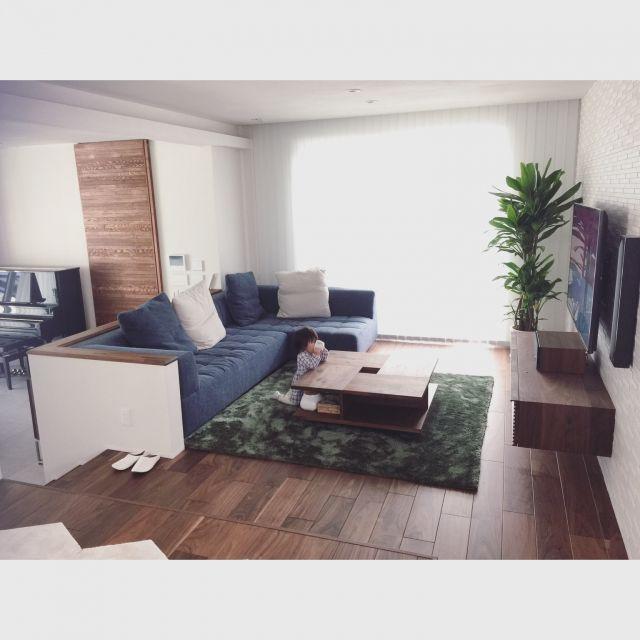 yuki_00nsさんの、リビング,ソファー,ラグ,リビング,リビングテーブル,のお部屋写真