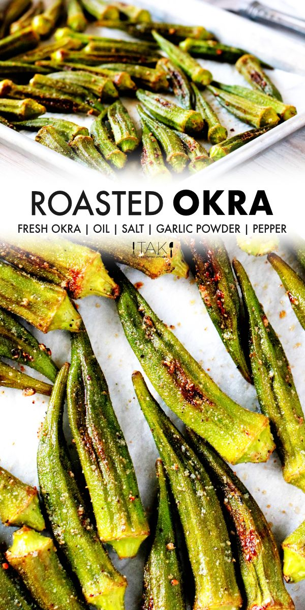 Oven Roasted Okra Recipe The Anthony Kitchen Recipe Roasted Okra Okra Recipes Oven Roasted Okra