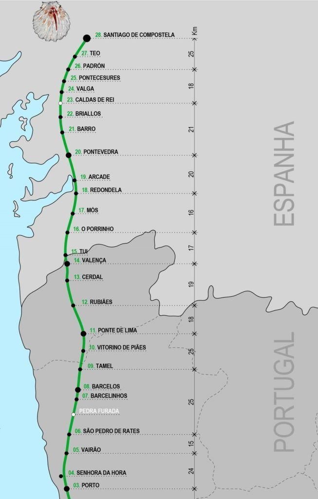 Caminho De Santiago Portugues Central In 2020 Santiago De