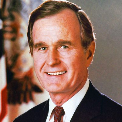 NAME: George Herbert Walker Bush  OCCUPATION: U.S. President, U.S. Vice President  BIRTH DATE: June 12, 1924 (Age: 88)  EDUCATION: Phillips Academy, Yale University  PLACE OF BIRTH: Milton, Massachusetts  more about George  BEST KNOWN FOR    The 41st president of the United States, George H.W. Bush was the vice president under Ronald Reagan and the father of George W. Bush, the 43rd president.