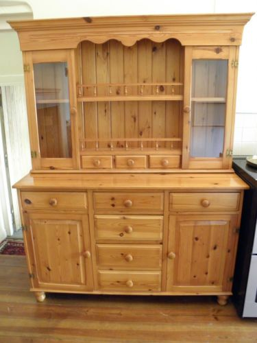 solid pine china cabinet 1