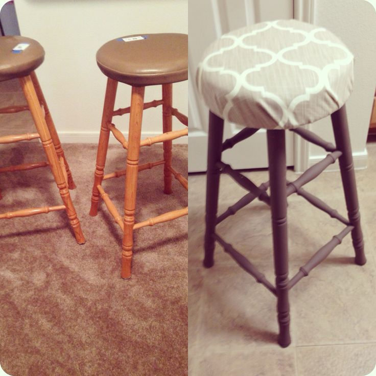 $15 barstools from goodwill I up-cycled for $25! DIY Before and After.