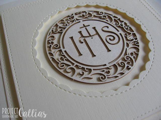 ProjectGallias: #projectgallias. clean and simple holly communion card, handmade. Prosta i elegancka kartka z okazji pierwszej komunii świętej.