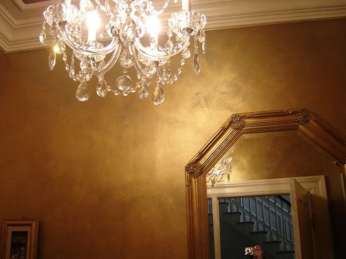 Valspar brilliant metals - gold. Doing this on our bedroom ceiling!