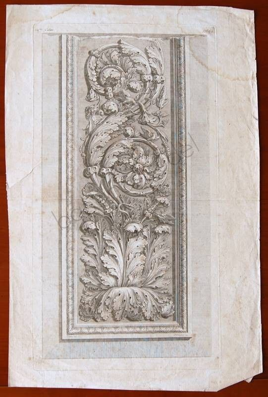1700 or 1800s Antique French Etching of Acanthus di bananastrudel