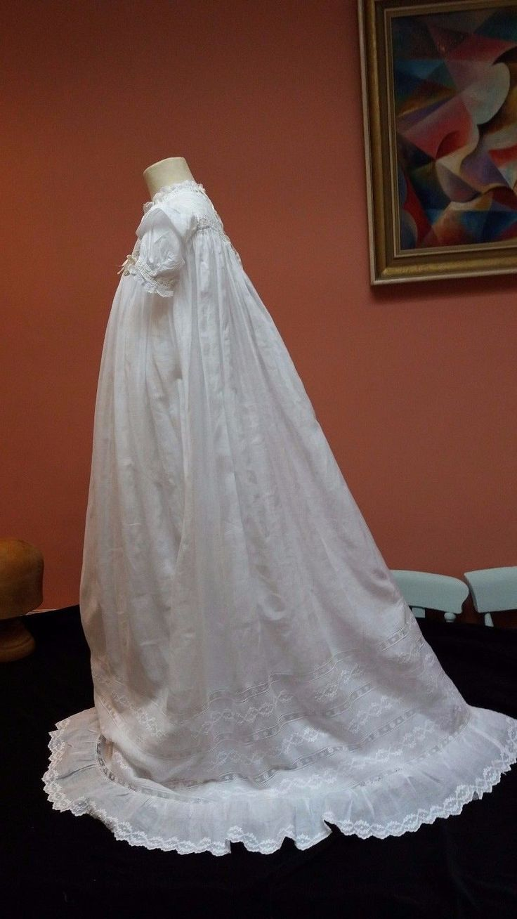 christening gowns from belgium | Antique Vin Victorian Whitework Hand Embroidery ...