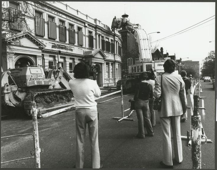 Demolition of the Royal Victorian Eye & Ear Hospital 1978