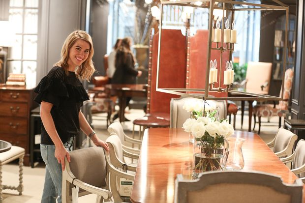 The Holland & Company showroom at ADAC receives regular visits from Clary Bosbyshell Froeba as she selects furniture and accessories for various projects.