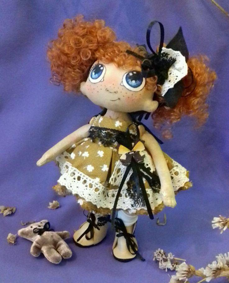 Купить Кукла текстильная Мариша - кукла, кукла ручной работы, кукла текстильная, кукла из ткани
