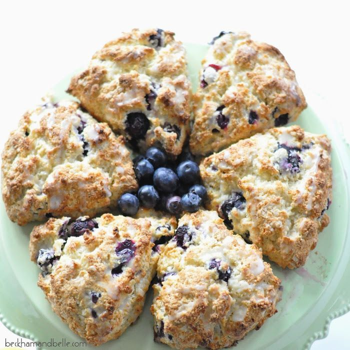 Blueberry Scones with Lemon Drizzle