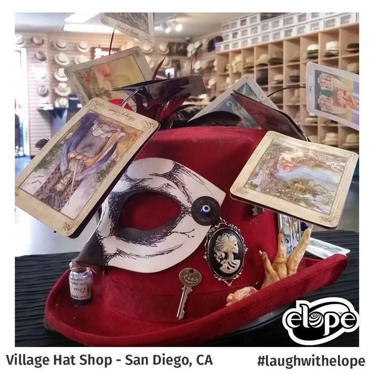 """Voodoo, Papa Legla's Calling Hat"" by Daniel Hostetter Village Hat Shop - Hillcrest - San Diego, CA  Vote for this hat: http://woobox.com/27q2tb"