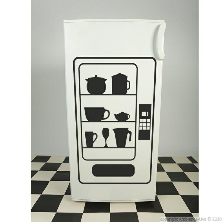 Stickers muraux pour la cuisine - Sticker distributeur | Ambiance-live.com