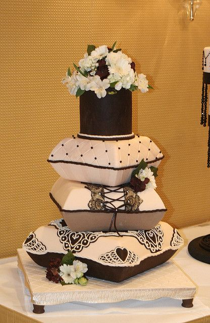 Pillow Stack Cake by Christin's Cakes, via Flickr --Love this!