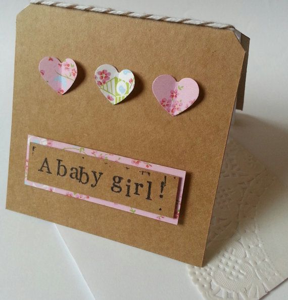 Handmade Baby Boy card congratulations by TheLittleCityPaperie
