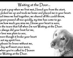 Image result for waiting at the door dog poem