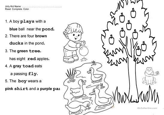 Jolly Phonics book 3 Fun Final Test