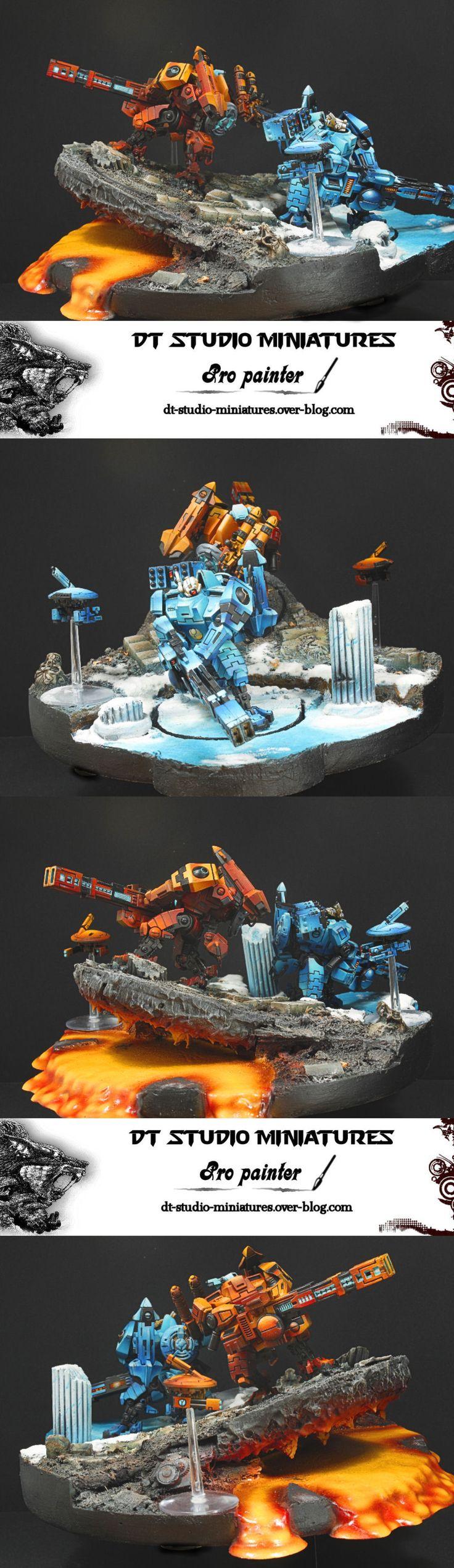 40k - Fire and Ice, Tau Broadside Battlesuits
