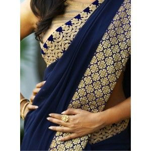 Trendy Georgett also scut Georgett Sarees With Blouse