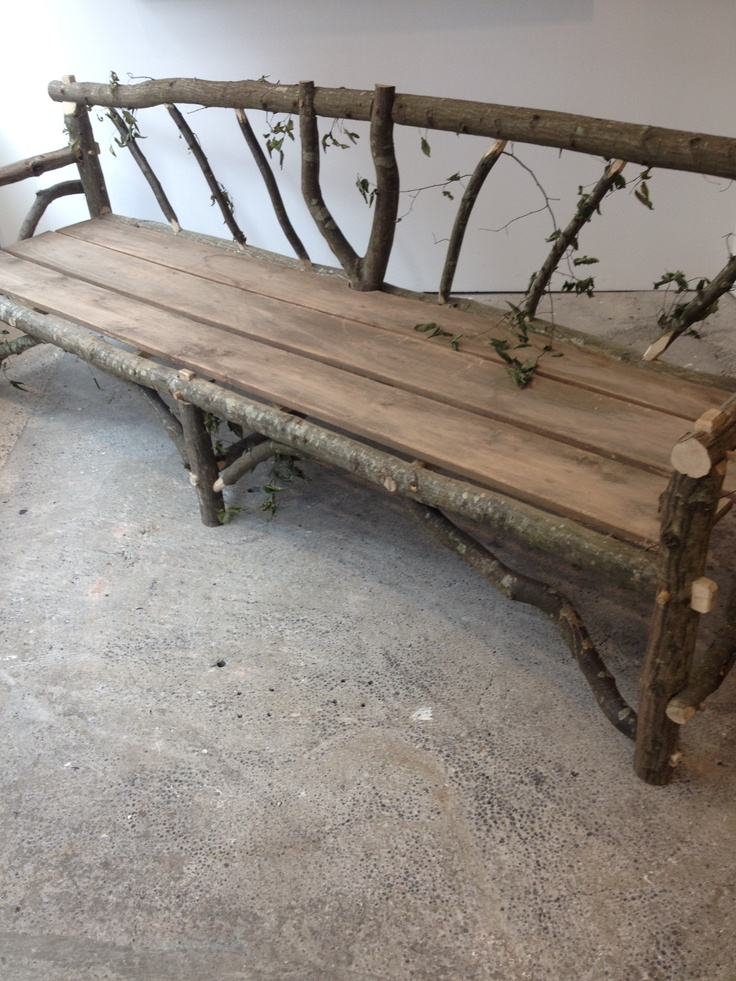 Superior Recycling Wood And Twigs To Make A Garden Bench