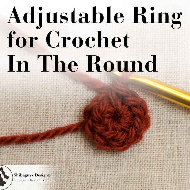 Crochet Stitches Adjustable Ring : ... Crocheters on Pinterest The stitch, Adjustable ring and How to knit