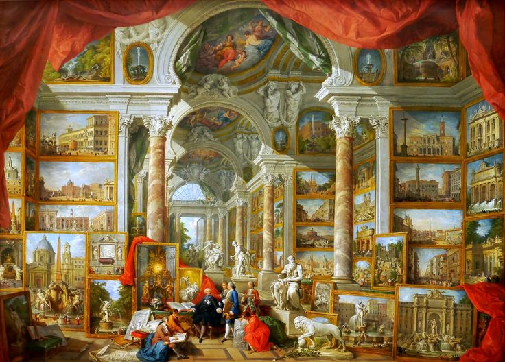 Giovanni Paolo Pannini, Gallery of Views of Modern Rome, 1759, oil on canvas, Paris, Musée du Louvre.