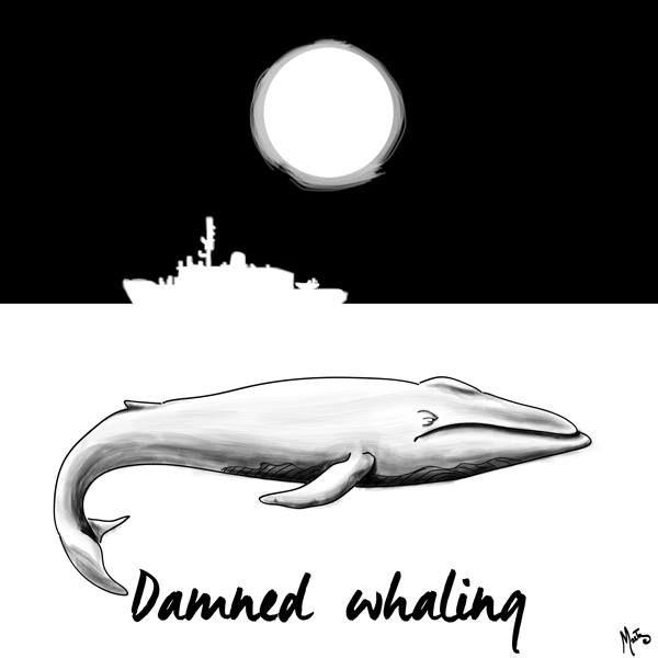 Marta Felletti - #RidingWhalesDay 015 - illustration - whales - www.massoneriacreatica.com