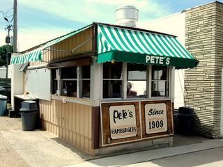 Pete's Hamburgers Prairie du Chien, Wisconsin. The very best - people stand in long lines and buy them by the bags full.
