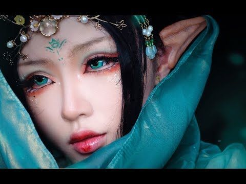 Cosplay Queen 古风仿妆 | Traditional Chinese Makeup ♣青竹花♣ - YouTube