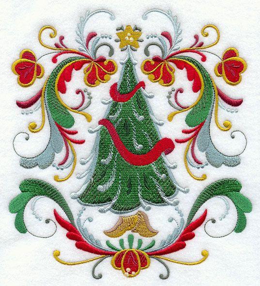 Rosemaling Christmas Tree